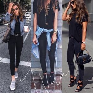 Casual Essentials •  skinny jeggings black jeans